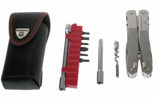 Swiss Tool Plus with leather-pouch