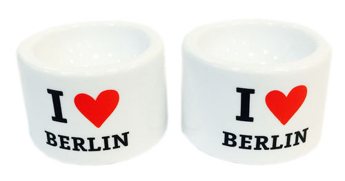Set of 2 Egg Cups with I LOVE BERLIN