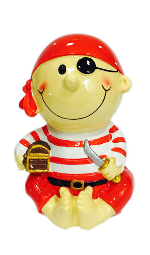 Pirate Money Box Red With Treasure
