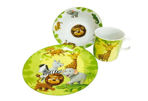Children's set jungle animals 3-part