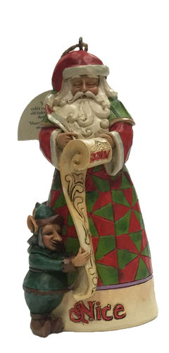 Naughty & Nice Santa (Hängendes Ornament)