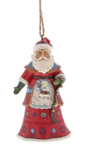 Lapland Santa With Strap - Hanging Ornament