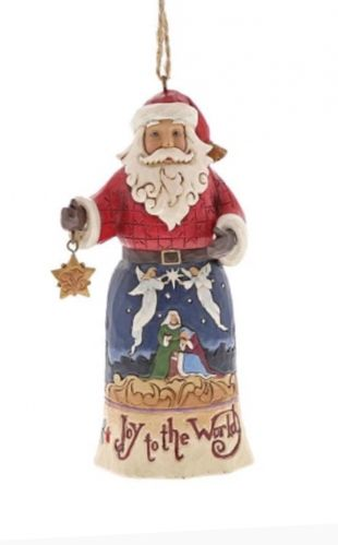 Joy to the World Santa - Hanging Ornament