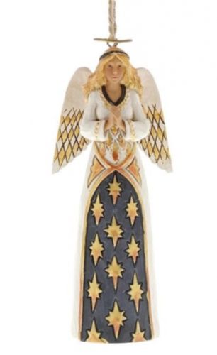 Black and Gold Angel - Hanging Ornament
