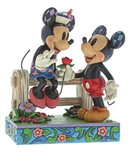 Blossoming Romance (Minnie & Mickey Mouse Figurine)